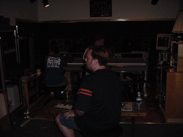 Thin Twisting Line recording session at Indre - session 2